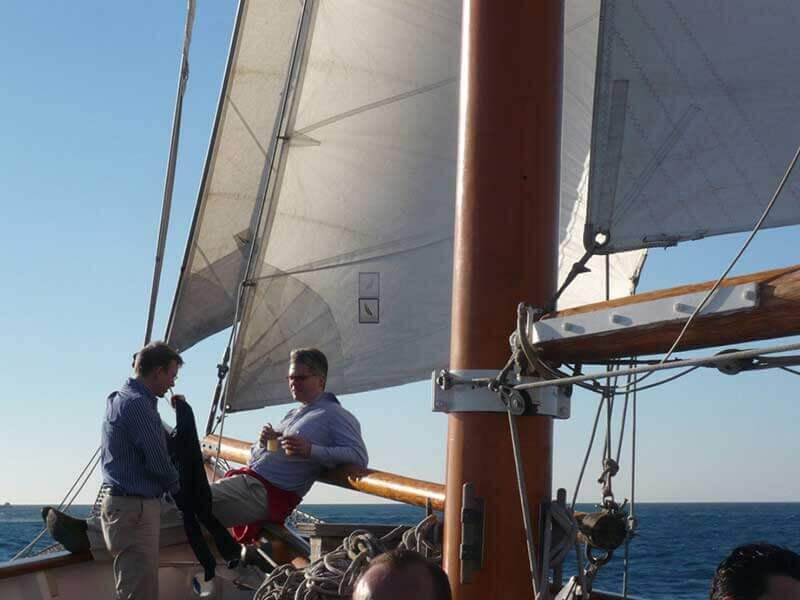 Teambuilding sur le voilier